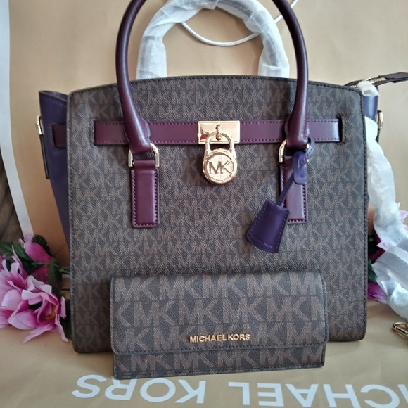 300f428b1868 NWT Michael kors Hamilton purse bag w  wallet set